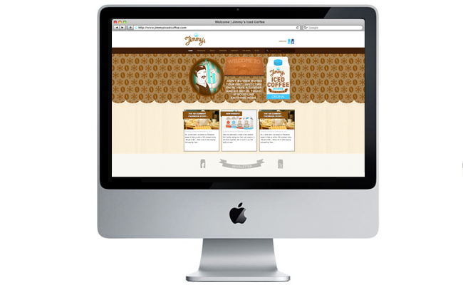 Jimmys Iced Coffee Website 2011