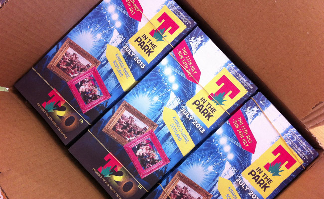 T in the Park ticket leaflet