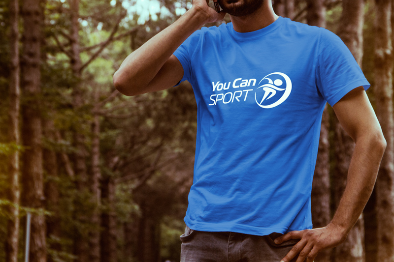 You can sport logo t shirt blue