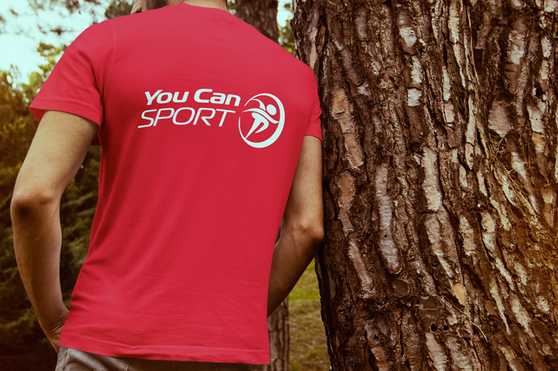 You Can Sport Logo T shirt Red